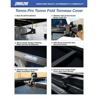 Tonno Pro Trifold Cover Fur Dodge Ram 2009 14 Xs Bed 5 7 Crewcab