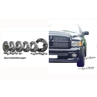 Set VA 24mm HA 34mm Spurverbreiterung 4 Stk. Dodge Ram 1500 2012-2018